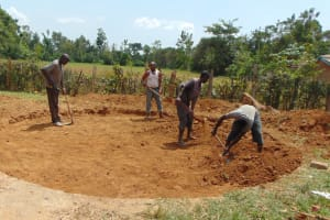 The Water Project: Bululwe Secondary School -  Construction Begins