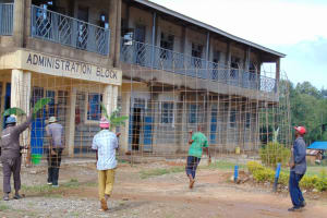 The Water Project: Dr. Gimose Secondary School -  Carrying Rebar