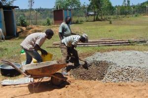 The Water Project: Imanga Secondary School -  Preparing Materials