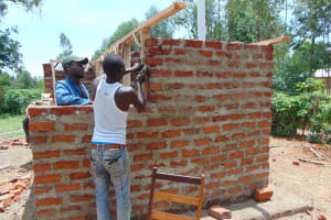 The Water Project: Bululwe Secondary School -  Latrine Walls