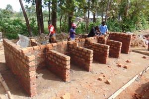 The Water Project: Kimangeti Girls' Secondary School -  Latrine Construction