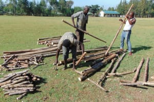 The Water Project: Bululwe Secondary School -  Poles For Structure