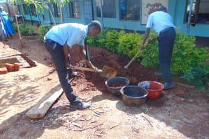 The Water Project: Hombala Secondary School -  Students Help Make Bricks