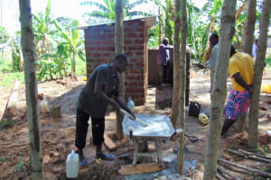 The Water Project: Mukhweya Primary School -  Mixing Cement