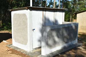The Water Project: Eshiakhulo Primary School -  Completed Latrines