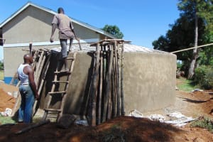The Water Project: Bululwe Secondary School -  Dome Construction
