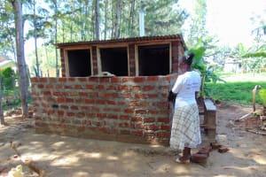 The Water Project: Mukhweya Primary School -  Latrine Progress