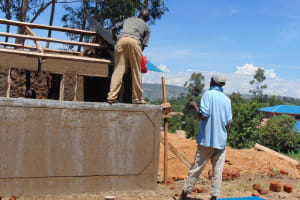 The Water Project: Dr. Gimose Secondary School -  Roofing Latrines
