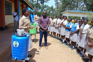 The Water Project: Kimangeti Girls' Secondary School -  Handwashing Training