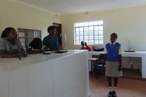 The Water Project: Kimangeti Girls' Secondary School -  Student Leads An Activity