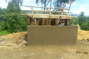 The Water Project: Dr. Gimose Secondary School -  Latrine Construction