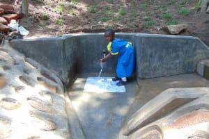 The Water Project: Emukangu Community, Okhaso Spring -  Camera Shy