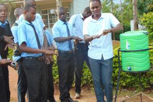 The Water Project: Hombala Secondary School -  Handwashing Training