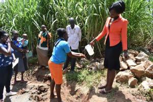 The Water Project: Ataku Community, Ngache Spring -  Handwashing Practice