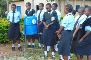 The Water Project: Hombala Secondary School -  Student Leads Handwashing Discussion