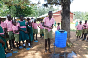 The Water Project: Mukhweya Primary School -  Handwashing Practice