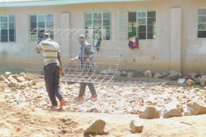 The Water Project: Eshiakhulo Primary School -  Creating Tank Foundation