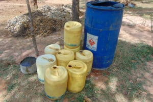 The Water Project: Bululwe Secondary School -  Collecting Materials Including Water