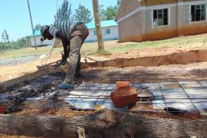 The Water Project: Imanga Secondary School -  Latrine Floor Casting