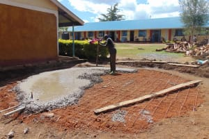 The Water Project: Kimangeti Girls' Secondary School -  Casting The Foundation