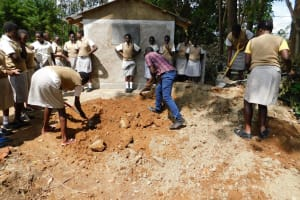 The Water Project: Kimangeti Girls' Secondary School -  Students Help Out