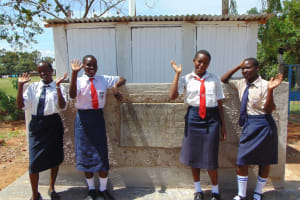 The Water Project: Imanga Secondary School -  Completed Girls Latrines