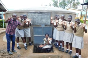 The Water Project: Kimangeti Girls' Secondary School -  Completed Tank