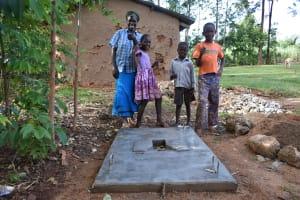 The Water Project: Ataku Community, Ngache Spring -  New Sanitation Platform Owners