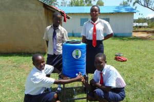 The Water Project: Imanga Secondary School -  Handwashing Station