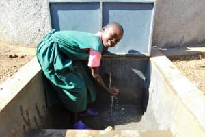 The Water Project: Mukhweya Primary School -  Flowing Water