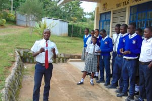 The Water Project: Dr. Gimose Secondary School -  Bynum Leads His Classmates