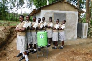 The Water Project: Kimangeti Girls' Secondary School -  Handwashing Staion
