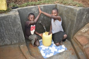 The Water Project: Ataku Community, Ngache Spring -  Smiles For Flowing Water