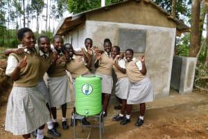 The Water Project: Kimangeti Girls' Secondary School -  Handwashing Station