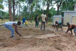 The Water Project: Bululwe Secondary School -  Latrine Foundation