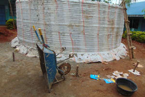 The Water Project: Hombala Secondary School -  Tank Walls Curing