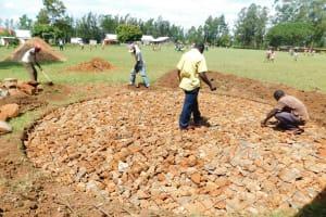 The Water Project: Mukhweya Primary School -  Rain Tank Foundation