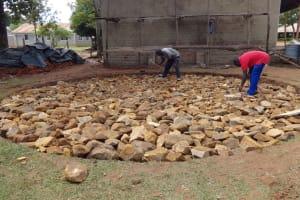 The Water Project: St. Theresa's Bumini High School -  Rain Tank Foundation
