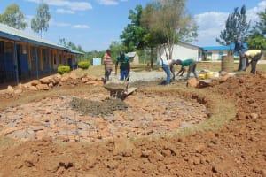 The Water Project: Imanga Secondary School -  Tank Construction Underway