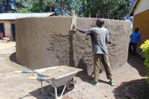 The Water Project: Kimangeti Girls' Secondary School -  Cementing The Walls