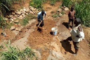 The Water Project: Ataku Community, Ngache Spring -  Preparing Clay