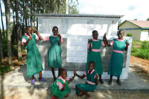 The Water Project: Mukhweya Primary School -  Completed Girls Latrines
