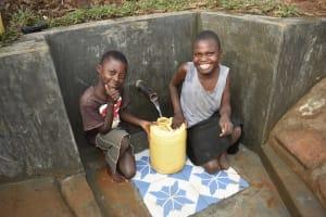 The Water Project: Ataku Community, Ngache Spring -  Big Smiles