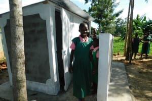 The Water Project: Mukhweya Primary School -  Girls Latrines