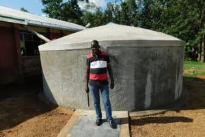 The Water Project: Mukhweya Primary School -  Field Officer Jonathan Mutai