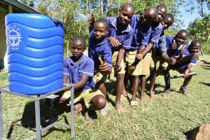 The Water Project: Eshiakhulo Primary School -  Handwashing Line