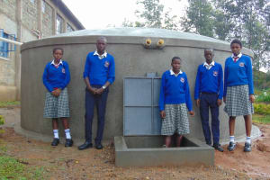The Water Project: Dr. Gimose Secondary School -  Completed Tank