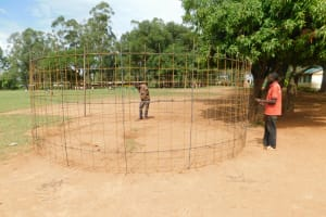 The Water Project: Mukhweya Primary School -  Readying The Rebar