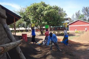 The Water Project: St. Theresa's Bumini High School -  Delivering Water For Construction