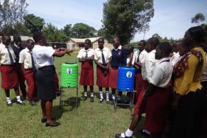 The Water Project: St. Theresa's Bumini High School -  Handwashing Demonstration